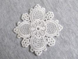 Applique en guipure fleur 59 x 59 mm - ( XX002 )