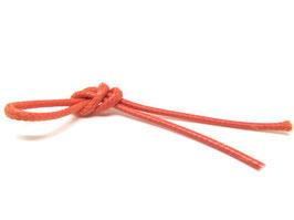 1 mètre de cordon coton ciré lustré orange 2 mm