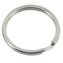 Anneau rond en métal argenté - 30 mm