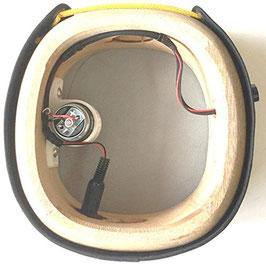 エレキ三線 集音マイク内蔵 + ボリューム調整ノブ + 裏面皮張り