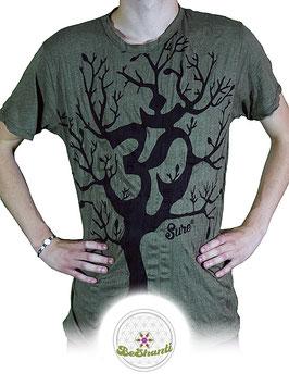 SURE Design T-Shirt 'OM Tree', khaki