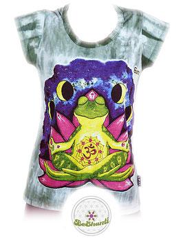 SURE Design Ladyshirt 'Be shanti', Batik, grün