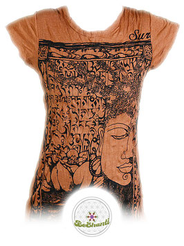 SURE Design Ladyshirt 'Buddha & Lotus', orange