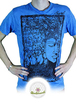 SURE Design T-Shirt 'Buddha & Lotus', blau