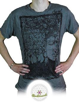 SURE Design T-Shirt 'Buddha & Lotus', grau