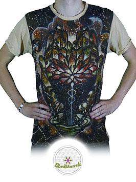 SURE Design T-Shirt 'Magic Lotus', beige