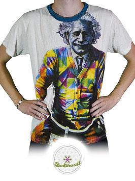 Weed Design T-Shirt 'Einstein', weiß