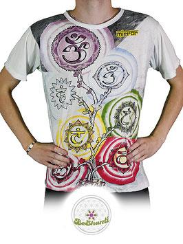 Mirror Design T-Shirt 'Chakra Tree', weiß