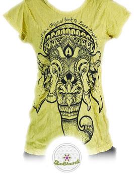 SURE Design Ladyshirt 'Ganesh', gelb