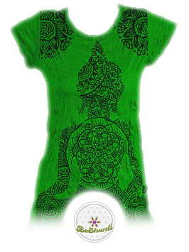 SURE Design Ladyshirt 'Buddha & Mandala', knallgrün