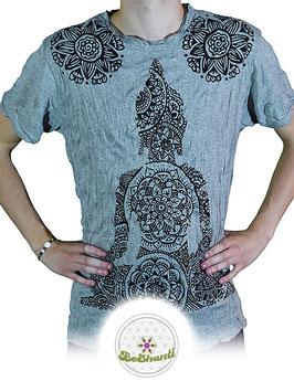 SURE Design T-Shirt 'Buddha & Mandala', hellgrau