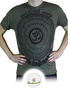 SURE Design T-Shirt 'Be OM', khaki