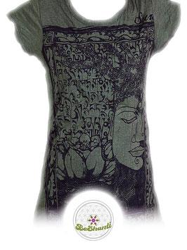 SURE Design Ladyshirt 'Buddha & Lotus', khaki
