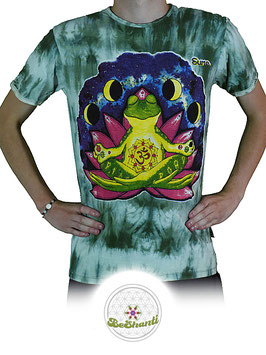 SURE Design T-Shirt 'Be shanti', Batik, grün