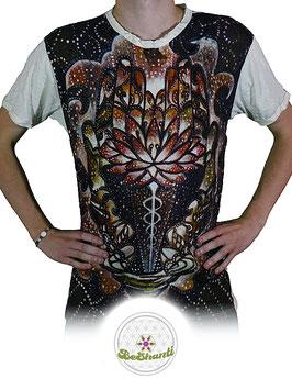 SURE Design T-Shirt 'Magic Lotus', weiß