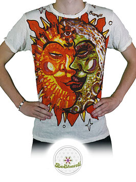 SURE Design T-Shirt 'Cosmic Kiss', weiß