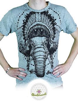 SURE Design T-Shirt 'Amar Ganesha', hellgrau