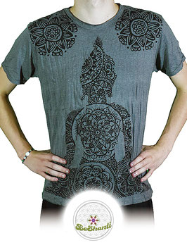 SURE Design T-Shirt 'Buddha & Mandala', grau