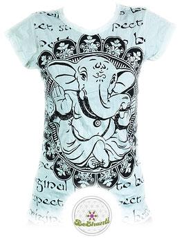 SURE Design Ladyshirt 'Baby Ganesh', weiß