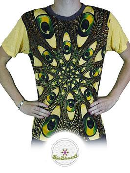 Weed Design T-Shirt 'Eye Mandala', gelb