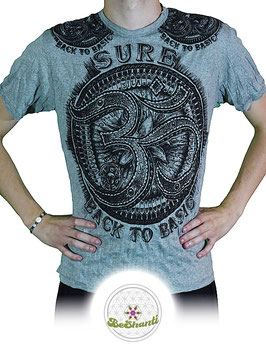 SURE Design T-Shirt 'Be more OM', hellgrau