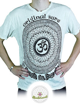SURE Design T-Shirt 'Be OM', weiß
