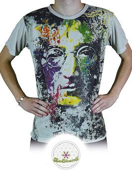Mirror Design T-Shirt 'John Lennon', hellgrau