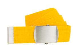 Bandgürtel 4cm gelb