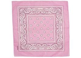 Bandana rosa mit Paisley Muster auch als Mundschutz verwendbar