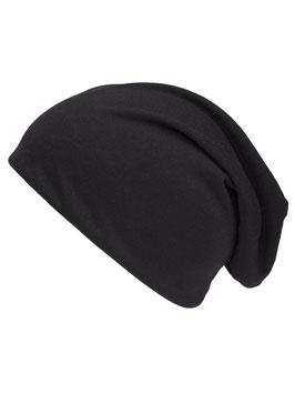 Schwarze Beanie Mütze