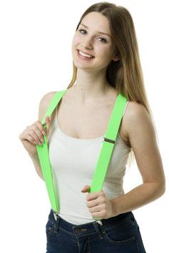 Hosenträger neongrün 3 Clips