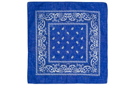 Mundschutz 3er Pack Bandana Halstuch Kopftuch royal blau