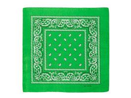 Bandana grün mit Paisley Muster auch als Mundschutz verwendbar