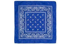 Mundschutz 10er Pack Bandana Halstuch Kopftuch royal blau