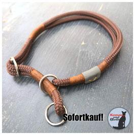 Zughalsband Seil Nature - KU 58 cm, schoko/braun
