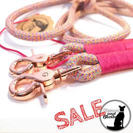 SALE | Leine 2-fach verstellbar Premium PP-Seil rose/pink