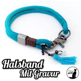 Edles Halsband Seil mit Gravur