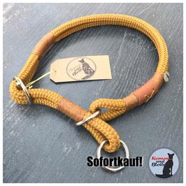 Zughalsband Seil Nature - KU 40cm, cognac