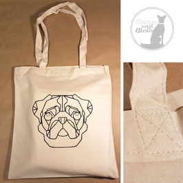 Stofftasche Mops