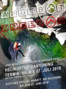 Helikopter Canyoning-Camp Tessin 2019