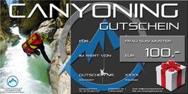 Unsere Erlebnis-Gutscheine von CanyoningAdventure