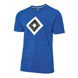 HSV T-Shirt Raute blau