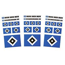 HSV Aufkleberkarte 3er Set