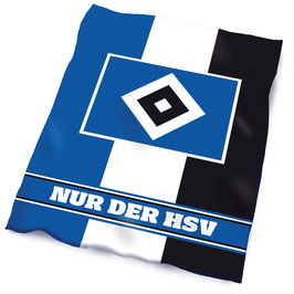 """HSV Fleecedecke """"NUR DER HSV"""""""