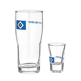 """HSV Glas-Set """"Lütt un Lütt"""""""