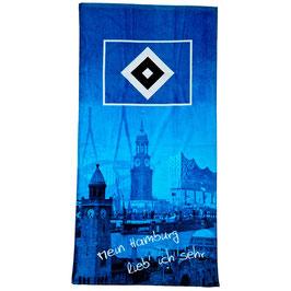 """HSV Strandhandtuch """"Mein Hamburg..."""""""