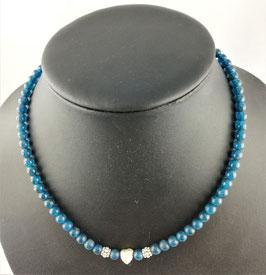 Apatit blau - Halskette