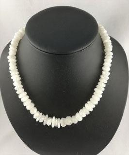 Labradorit weiss (Regenbogen-Mondstein) - Halskette