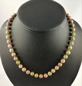Epidot-Feldspat (Unakit) - Halskette