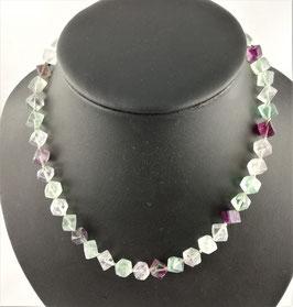 Fluorit bunt (Regenbogenfluorit) - Halskette